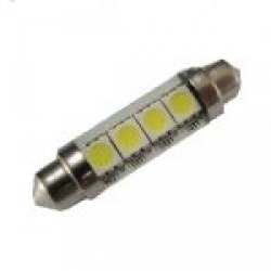 Festoon 4 LED SMD 3chips 42mm 12V