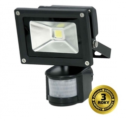 Reflektor LED 10W s pir čidlom-solight